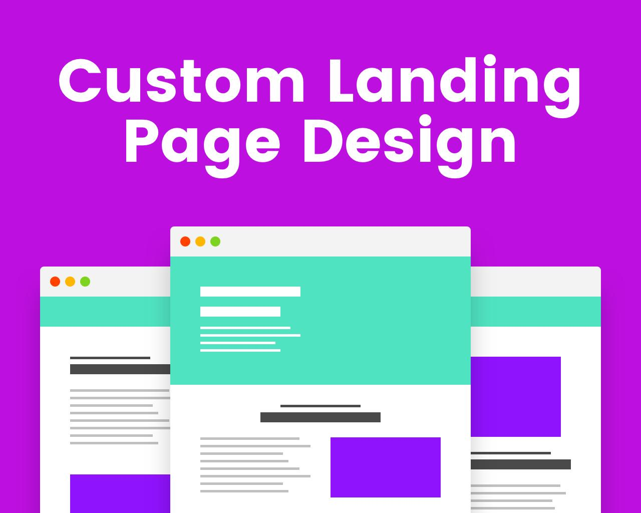 Custom landing page design for each ad