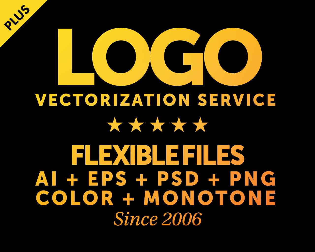 Logo Vectorization Plus (AI + EPS + PSD + PNG) for Large format, T-shirt, Vinyl Decal, Stamps by AnasProStudio - 116652