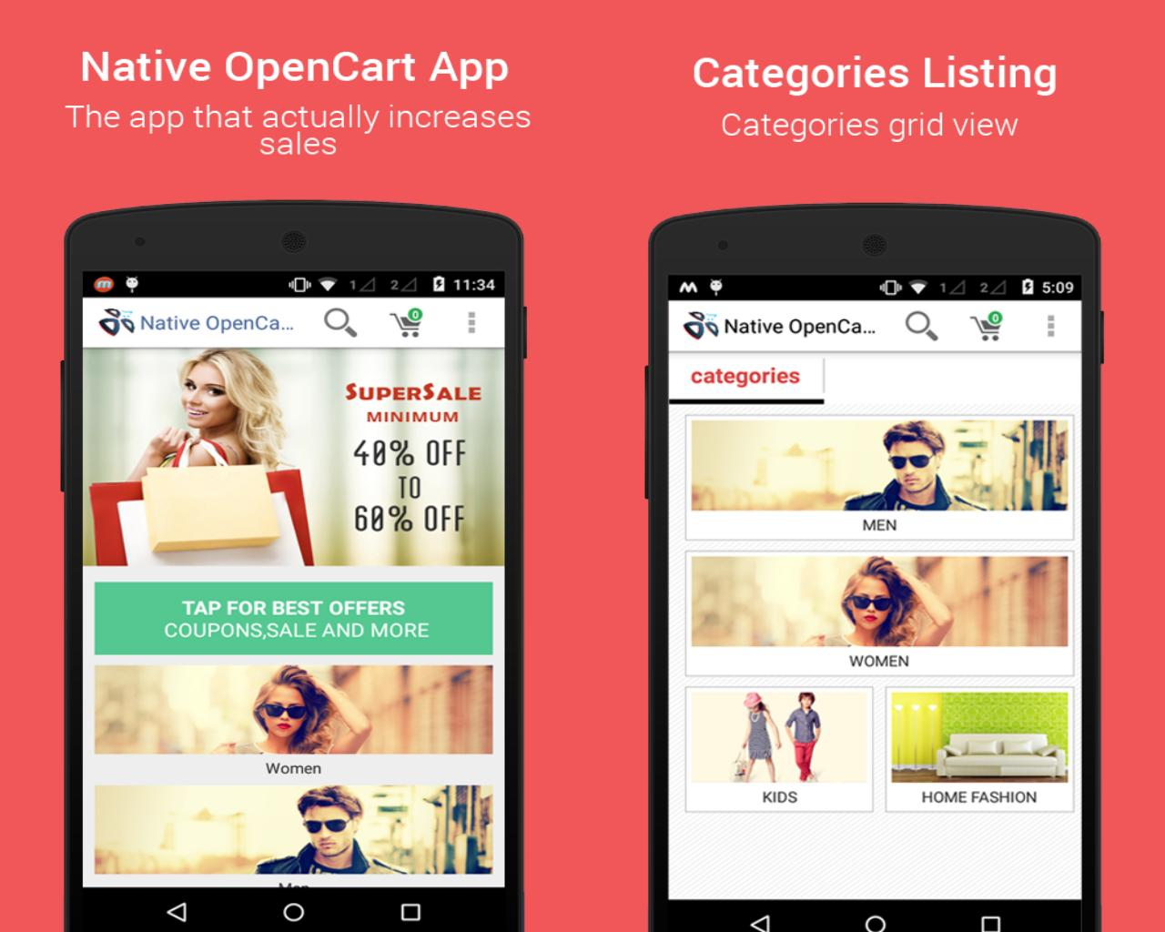 Opencart Mobile App - Native app for iOS and Android by dasinfomedia - 79412