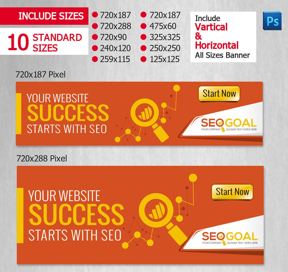 Corporate Professional Web Banners Ad Design by ContestDesign - 37568