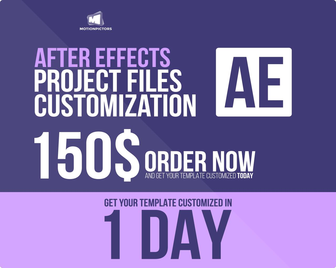 After Effects Templates Customization by motionpictors - 65401