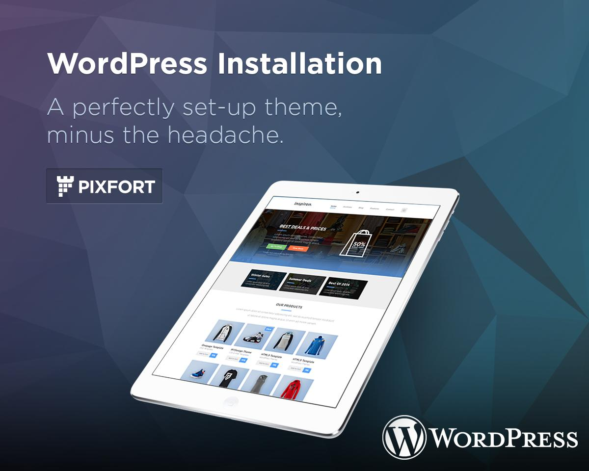 WordPress Theme Installation & Setup (Demo + Plugins) by PixFort - 58367