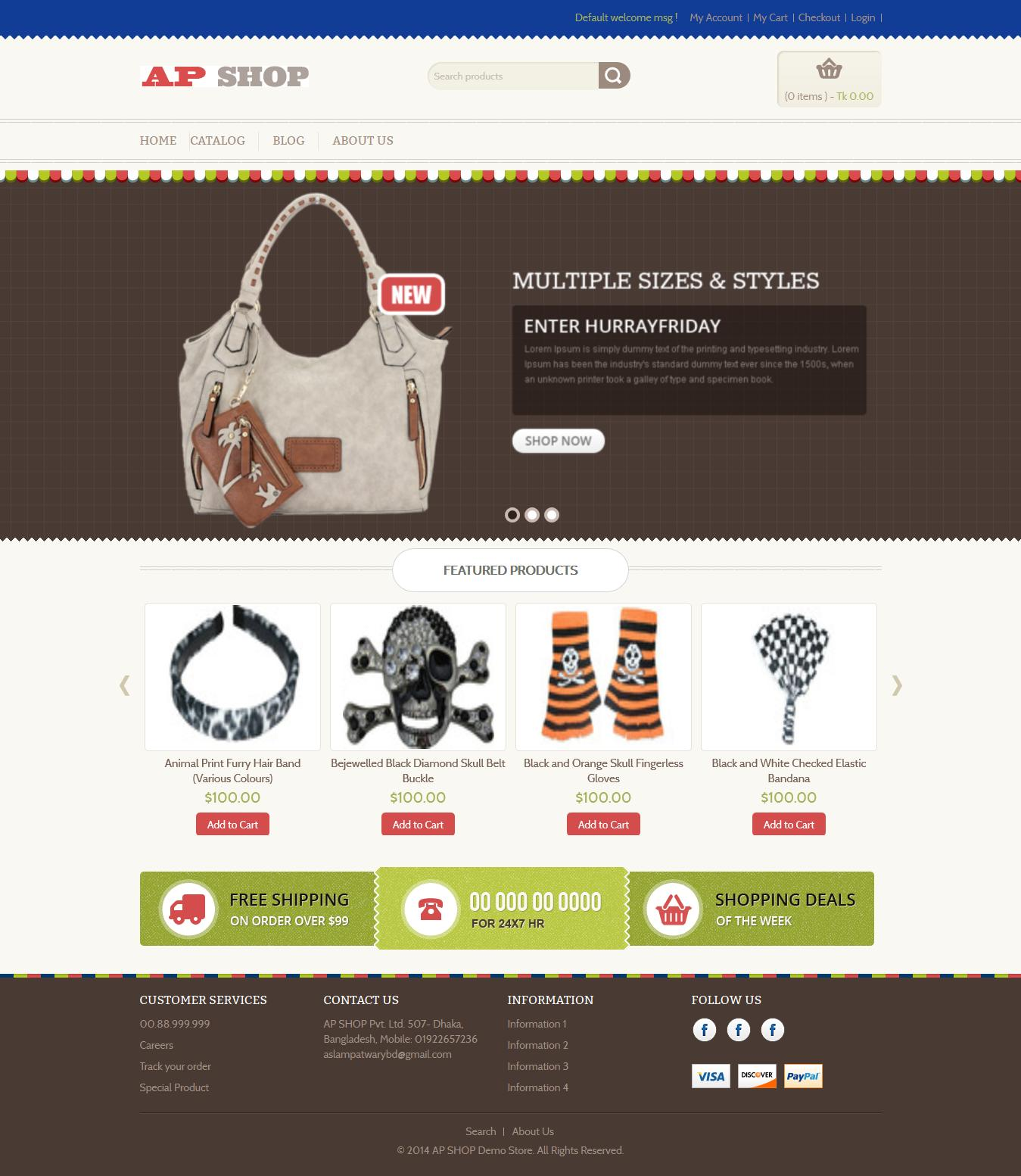 Shopify Website Customization/Store Setup/Responsive by sanykhan - 48520
