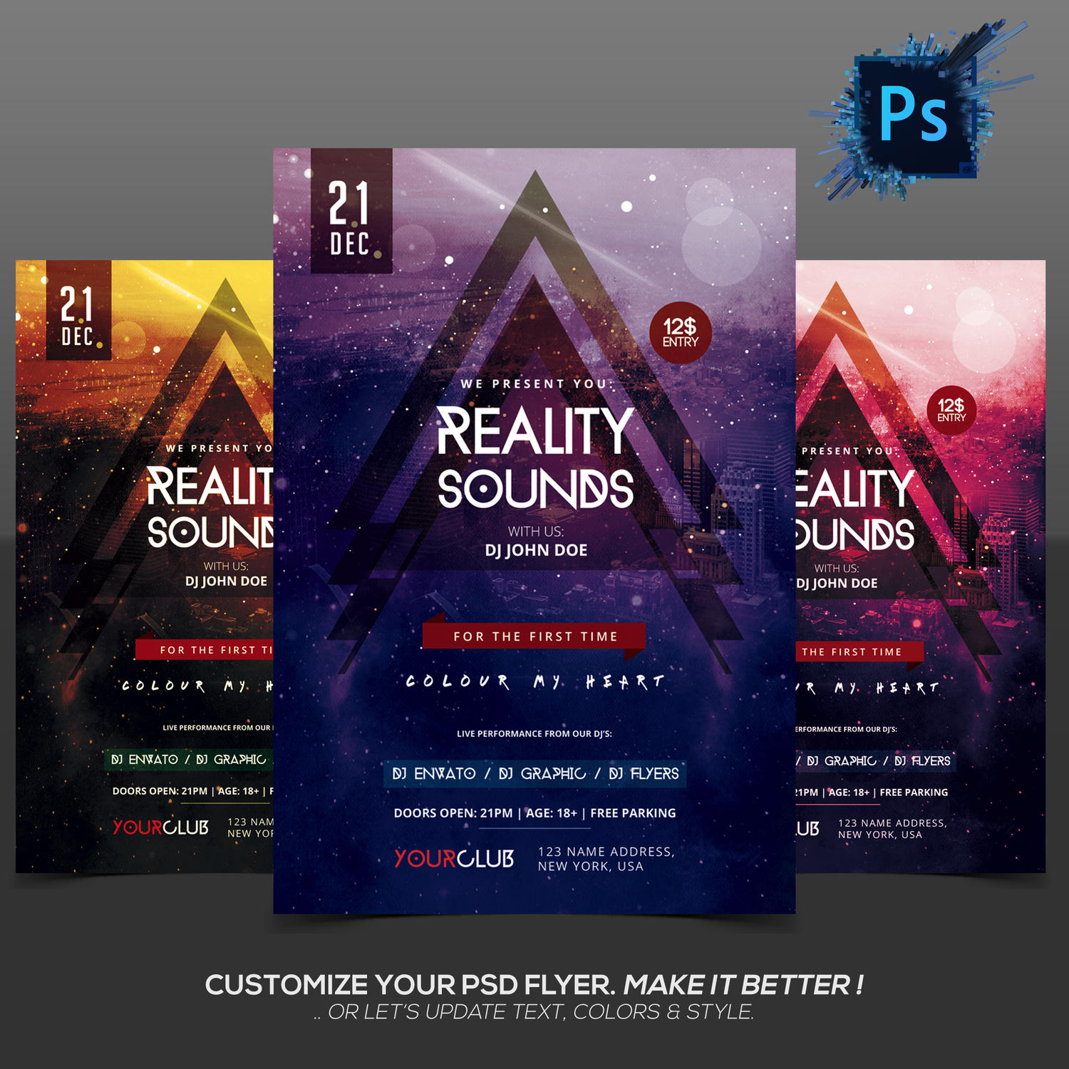 Customization PSD Flyer by fidanselmani - 95275