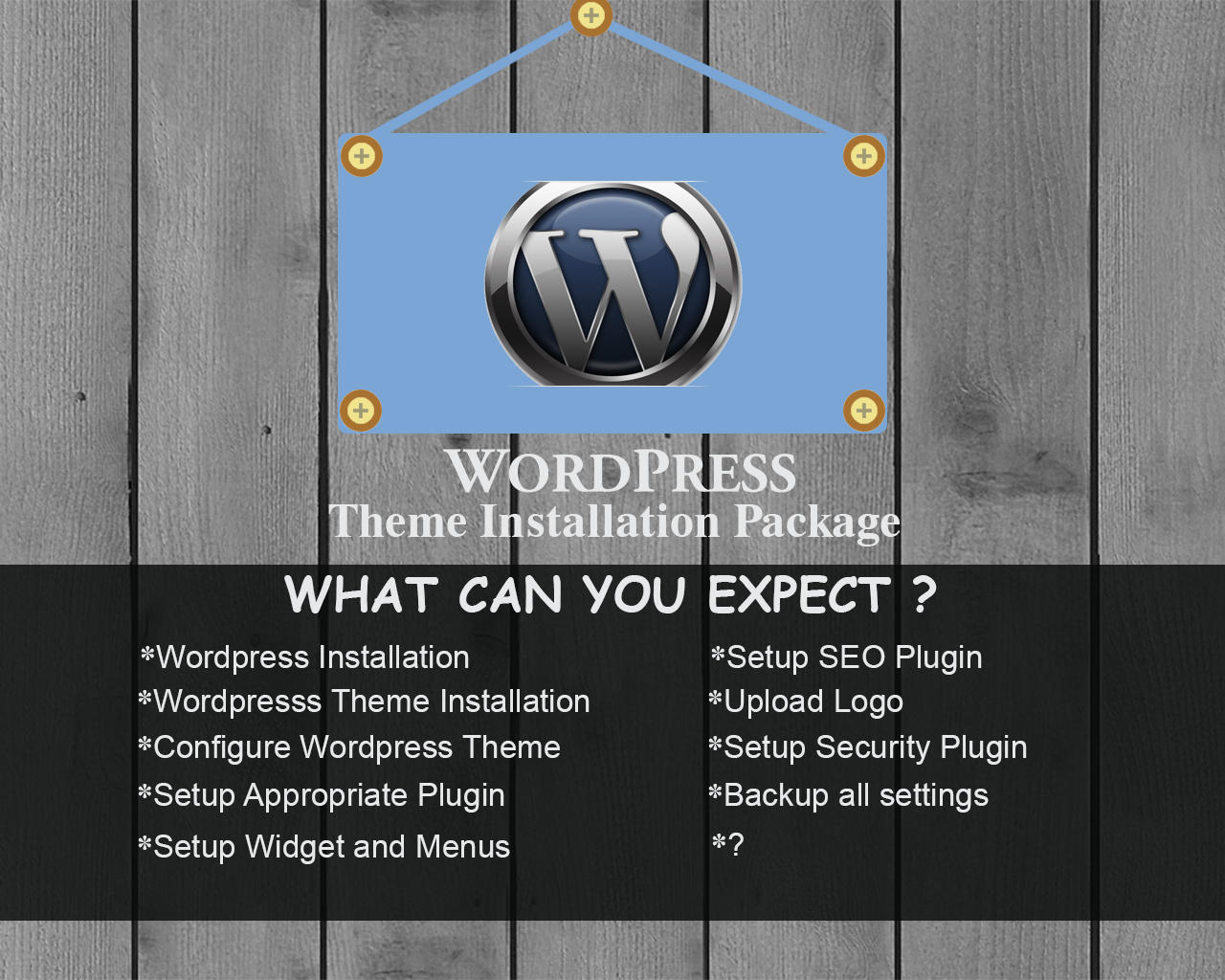 Wordpress Theme Installation Package by sanykhan - 74247