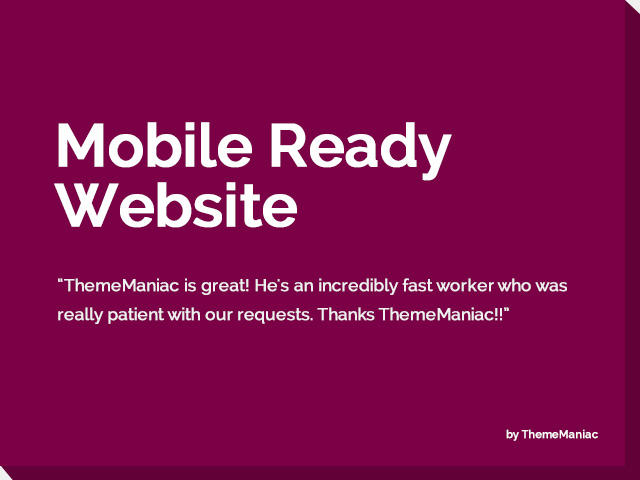 Existing Website to a Mobile Ready Website (Responsive) by ThemeManiac - 54248