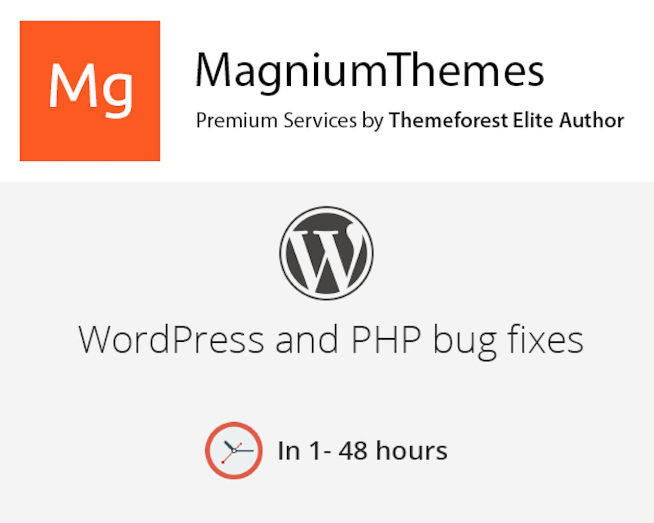 WordPress Themes or PHP Small bug fixes (Warnings, Notices) by dedalx - 105780