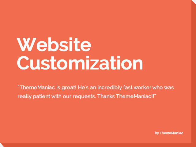 Website Customization by ThemeManiac - 54249