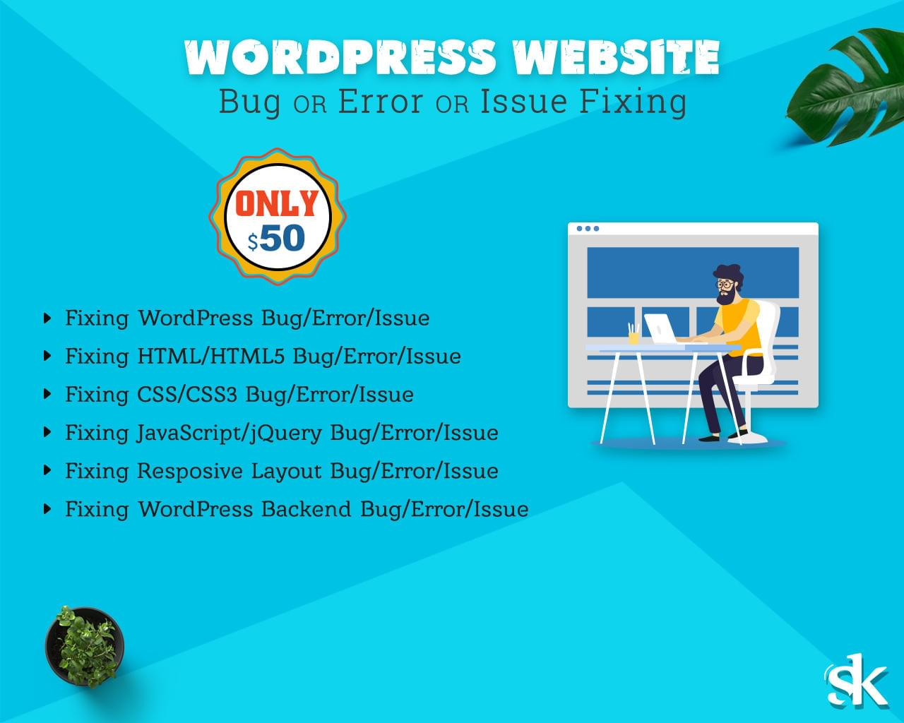 WordPress Website Bug or Error or Issue Fixing by SK-Web-Solutions - 112985