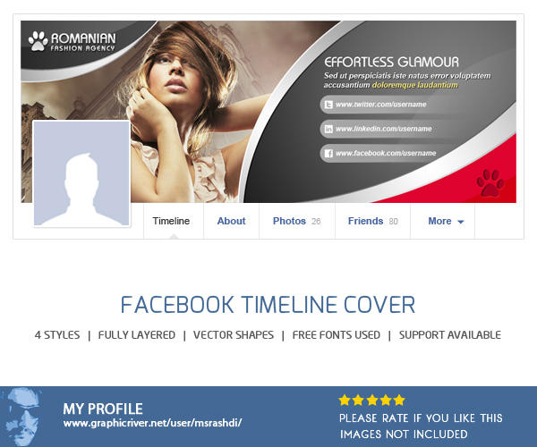 Glamour & Fashion Facebook Timeline Cover  by msrashdi - 50305
