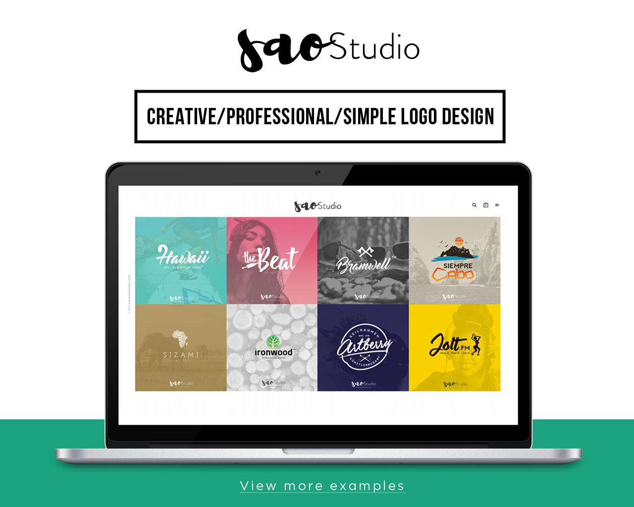 Creative/Professional/Simple Logo Design by SAOStudio - 101636