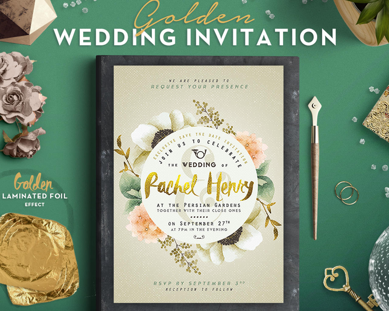Deluxe Foliage Wedding Invitation Design by lavie1blonde - 98944