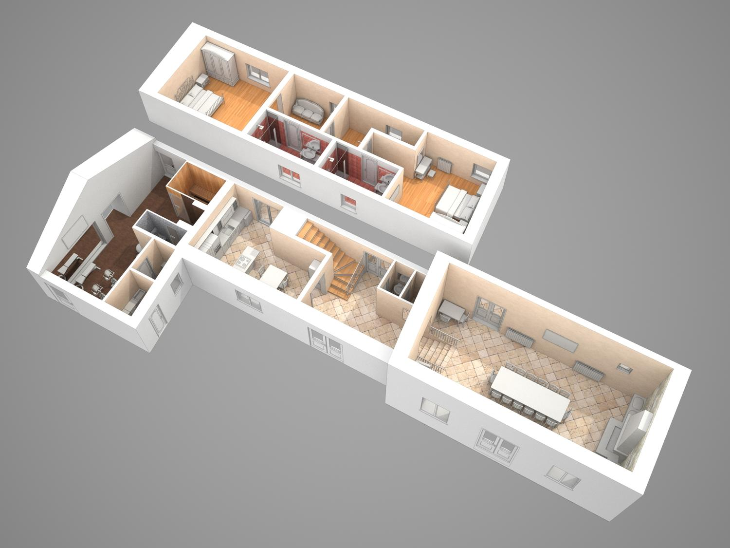 2D Floor Plan to 3D Visualization by tomislavn - 65441