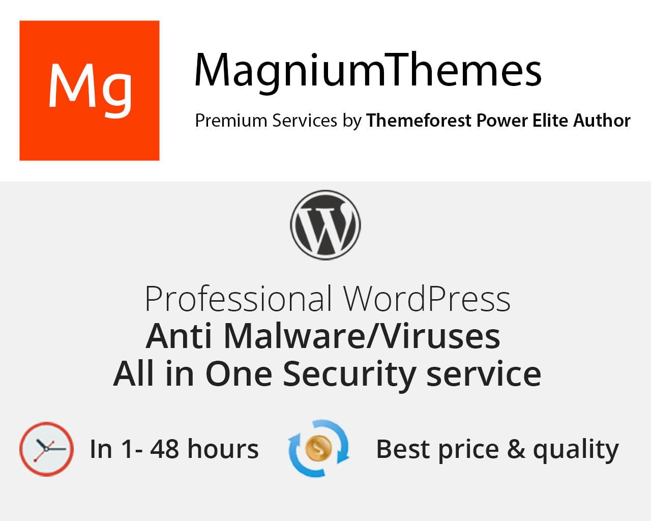 WordPress Malware/Virus Scan, Cleaning, Removal, Fixing service for hacked sites - All in One by dedalx - 112029