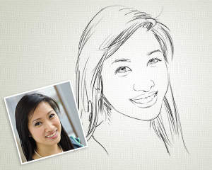 Line Art Portrait : Line art portrait by scorpy on envato studio