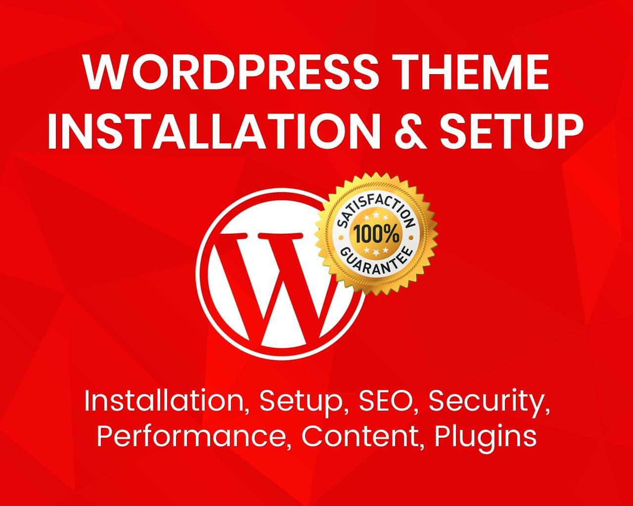 WordPress Installation & Theme Setup (SEO, Security, Performance, Content, Plugins) by uipro - 113368