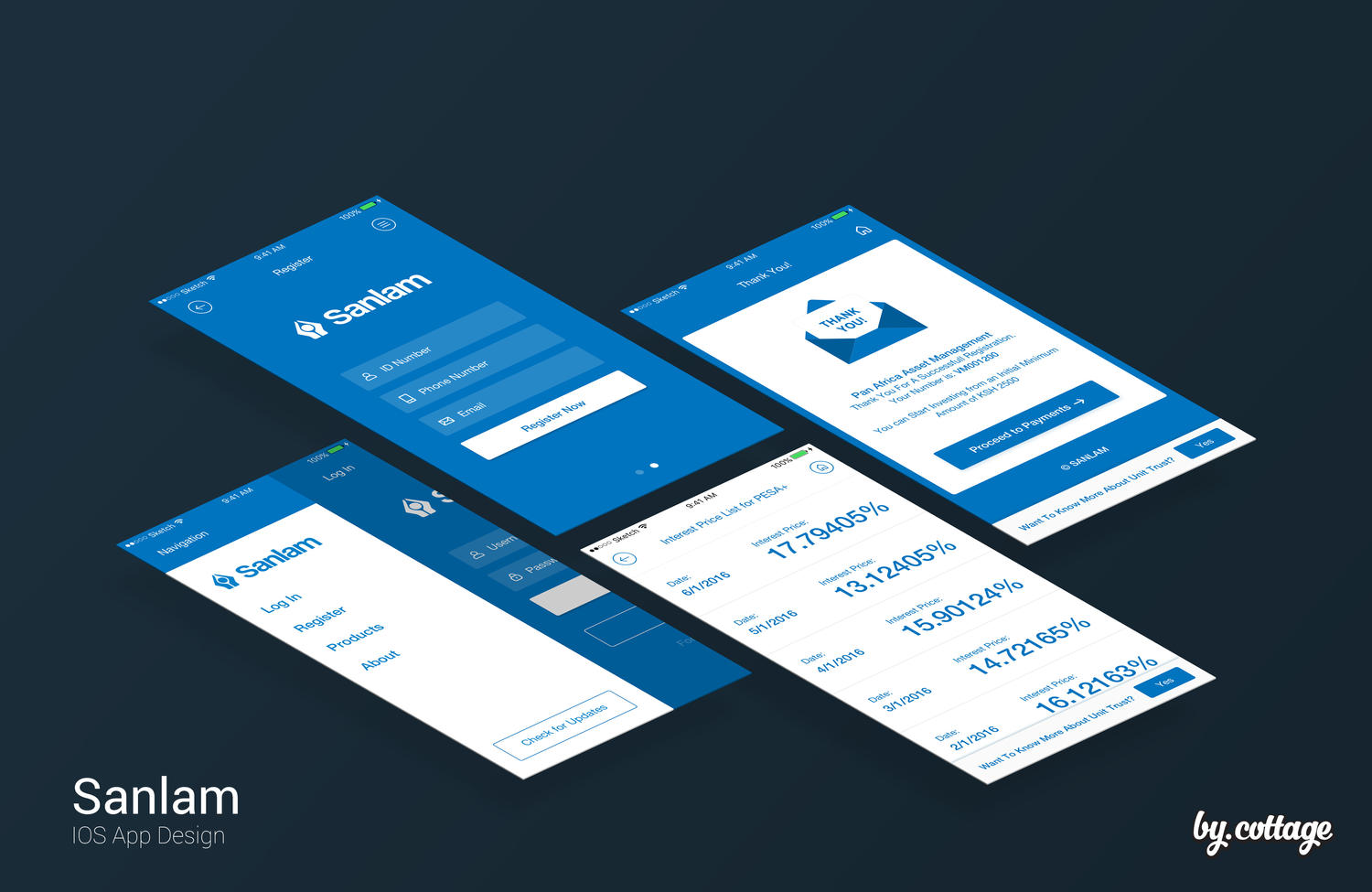 UI/UX iOS Professional App Design by laurentiu_cotet on Envato Studio