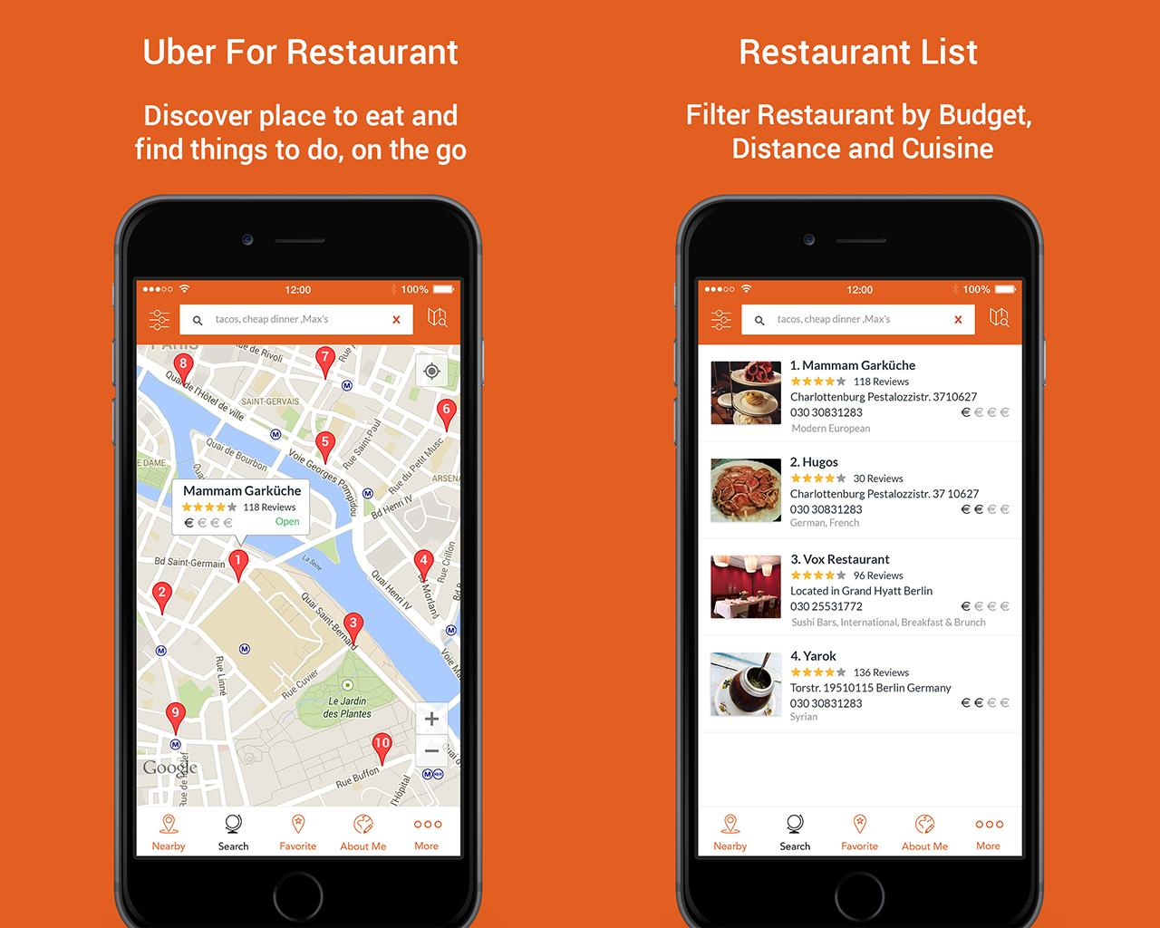 Uber Clone for Restaurant - Restaurant Marketplace script for Iphone by dasinfomedia - 108391