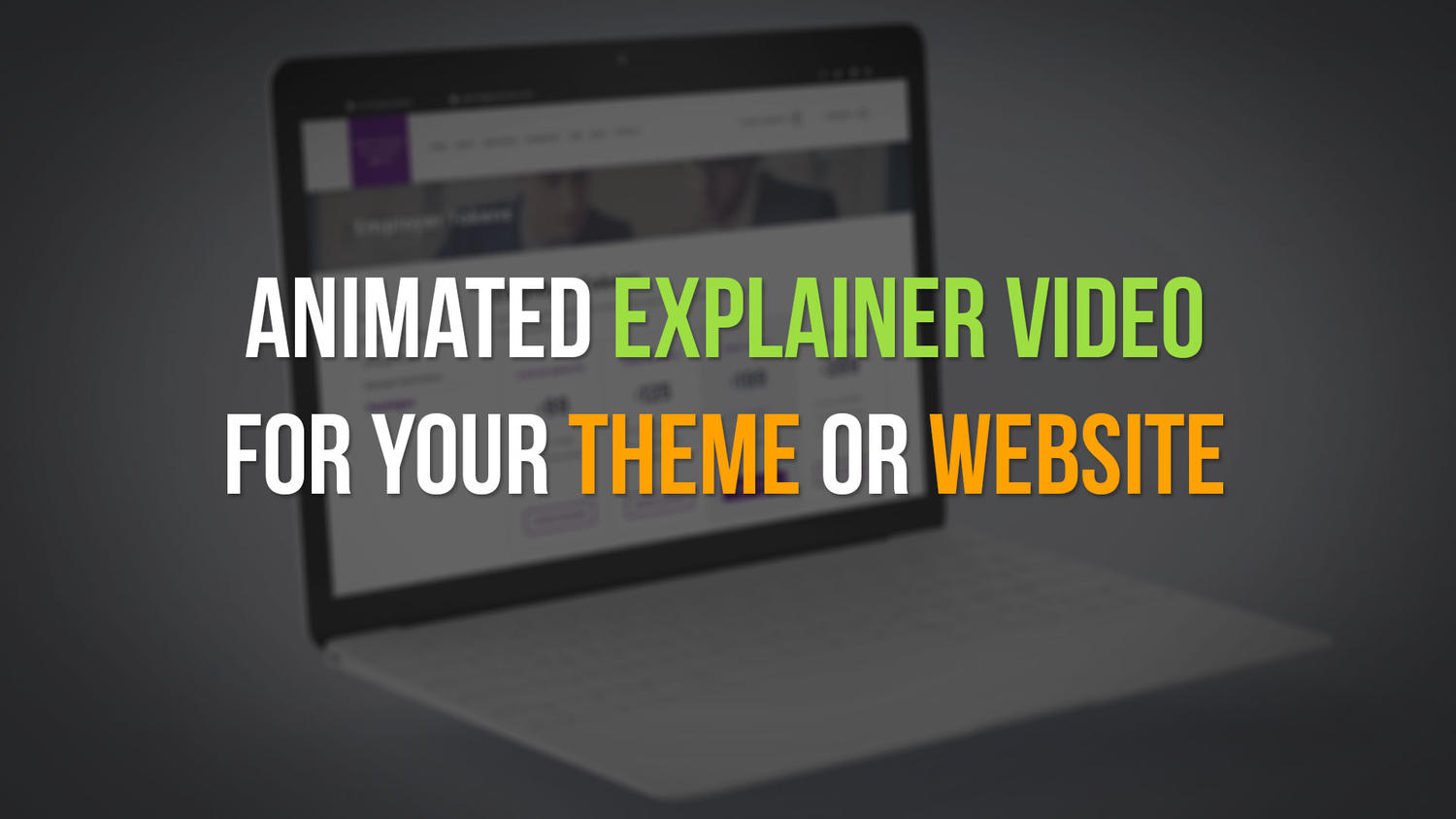 Themeforest Theme - Explainer Video (30 seconds) + Voice Over by kiwiplay - 110412
