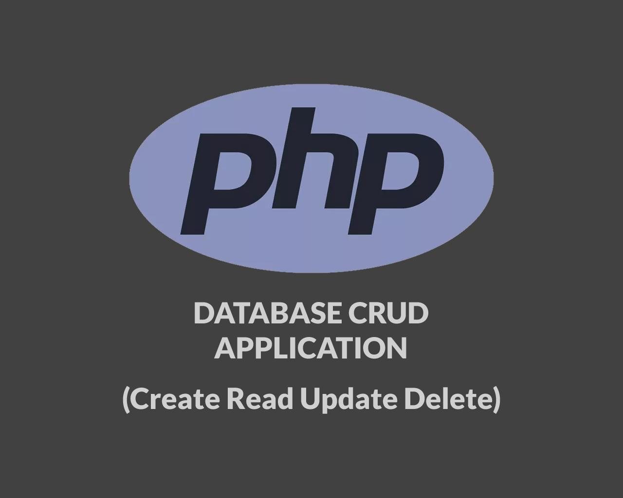PHP Create Read Update Delete Records (CRUD) Application by indiefreelancer - 115043