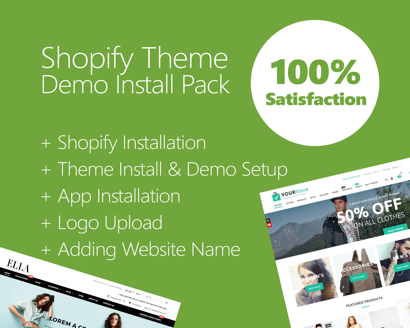 Shopify Theme Install & Demo Setup (+ Apps & Logo Setup)  by hasanet - 109819