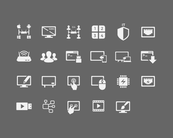 Crisp and Unique Black/White Icon Set Design by artworkbean - 62334