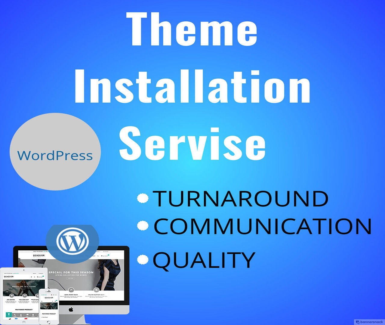 Professional WordPress Theme Installation and Customization by 3jon - 110421