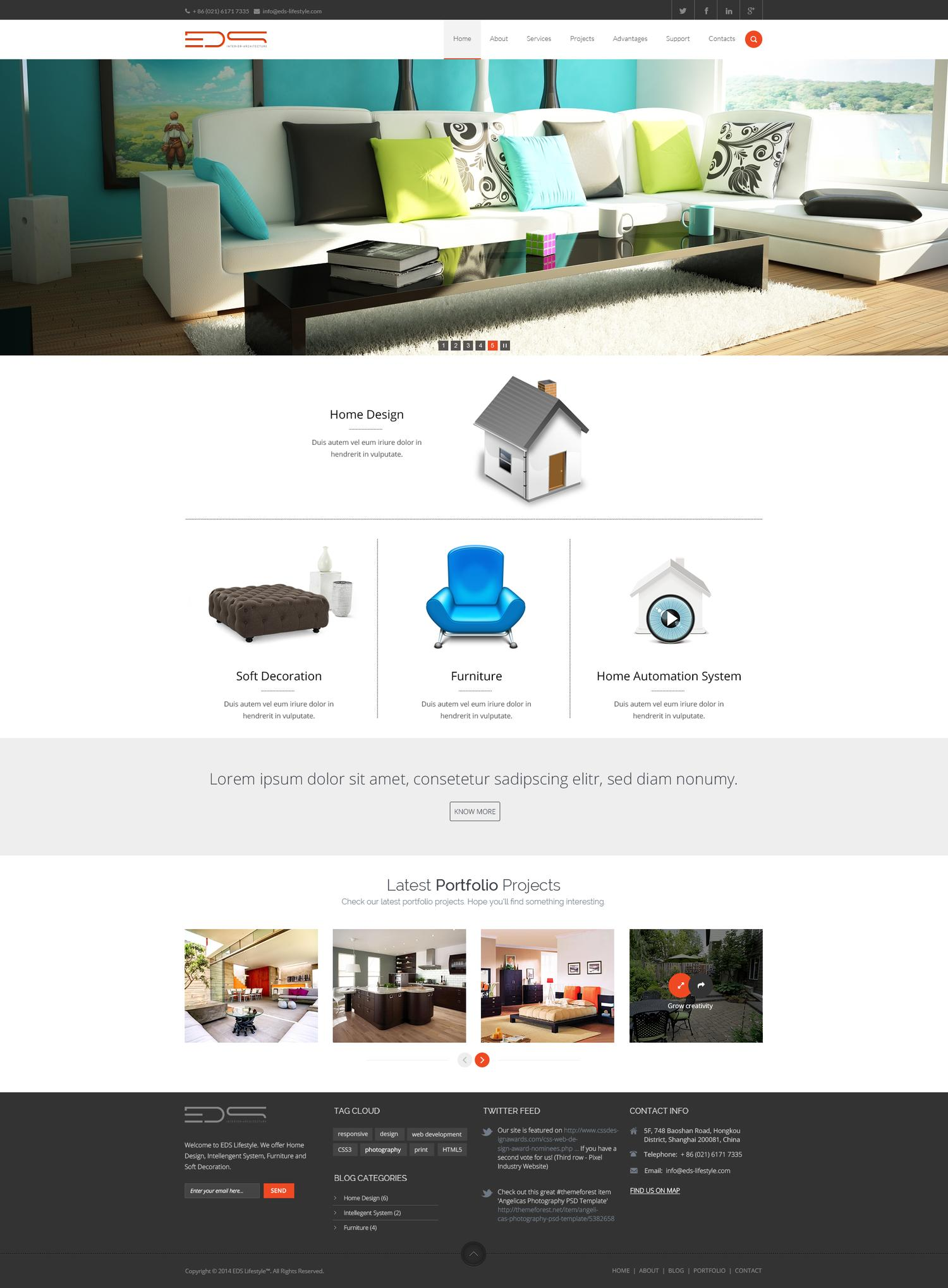 Professional Website Design PSD by sumonreja - 97982