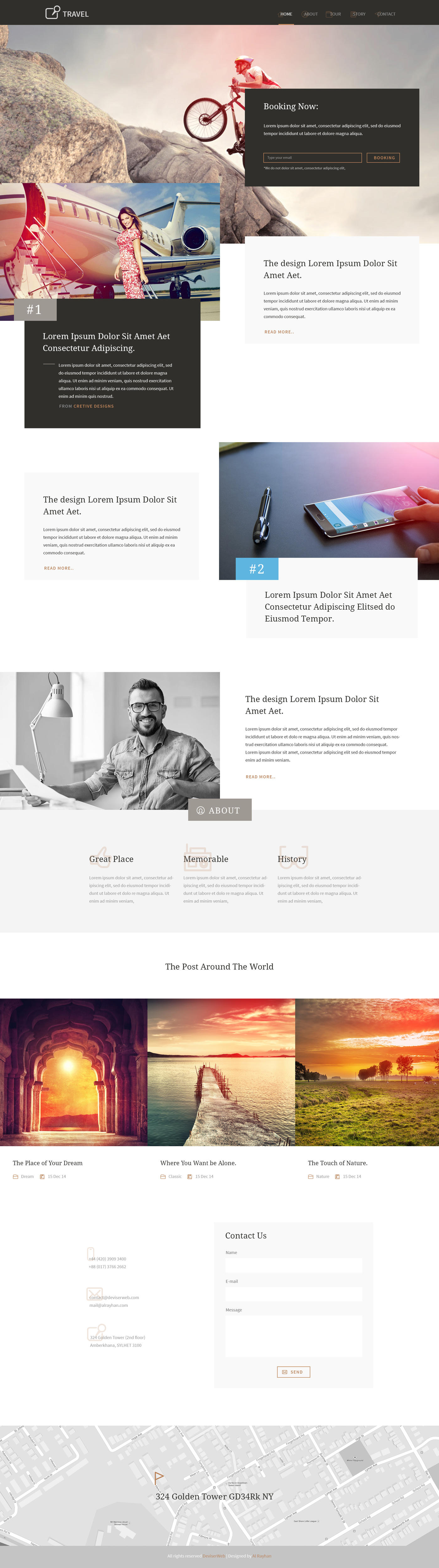 Landing Page Design with Code by rtralrayhan - 70312