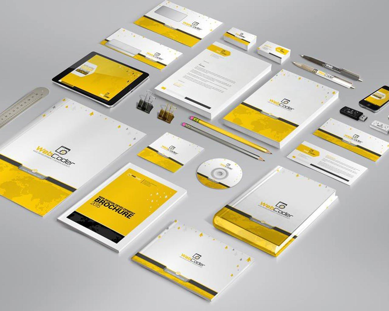 high quality professional stationery design by edgybrain on envato