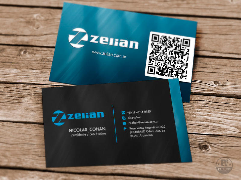 Creative Business Card Design with QR code by pabloixx on Envato Studio