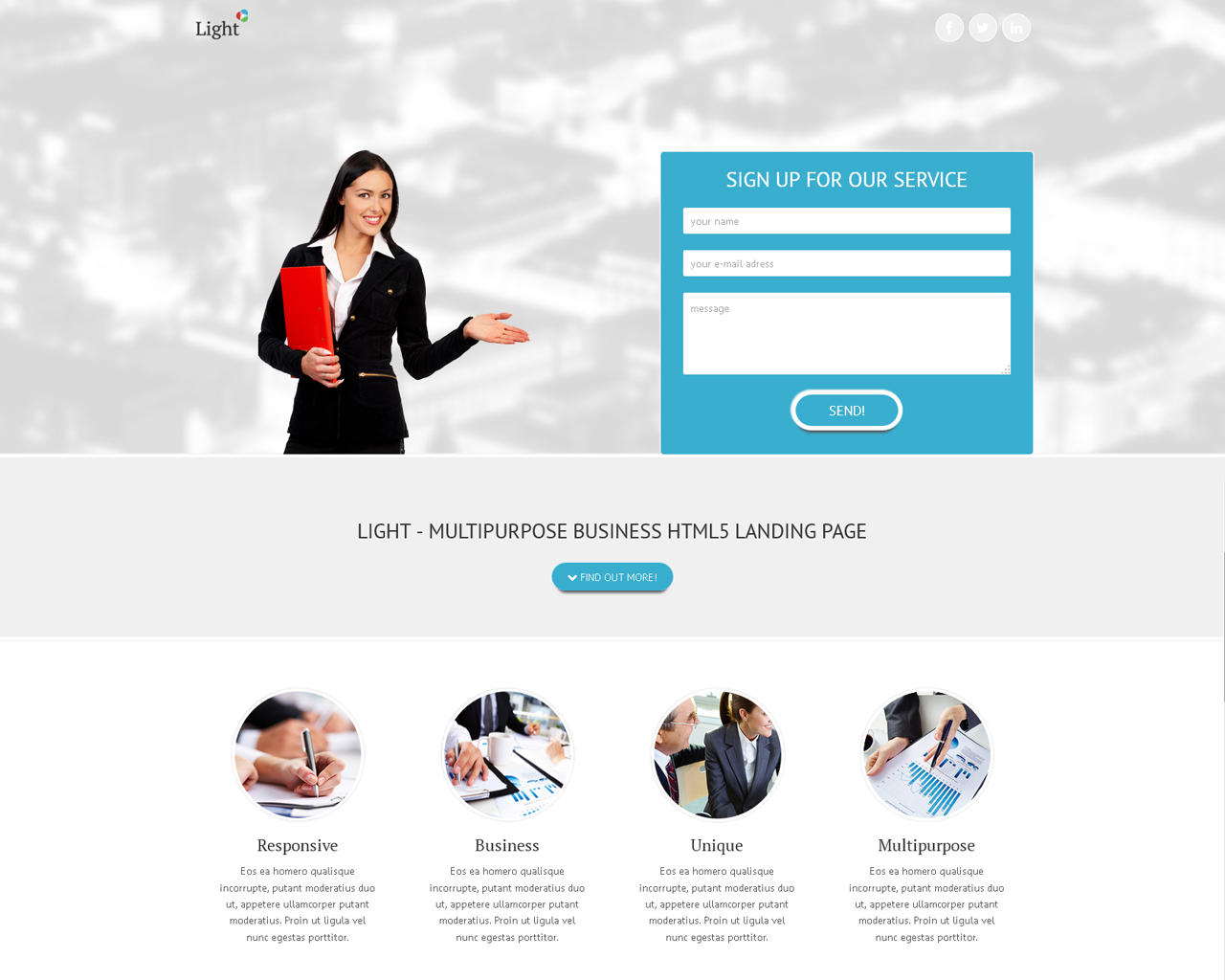 PSD to Responsive HTML5/CSS3/jQuery Website by rayoflightt - 63651