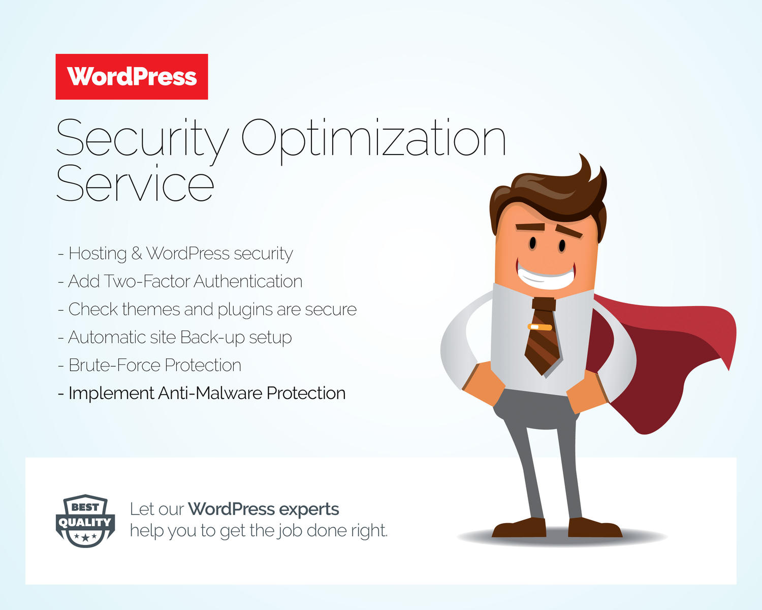 WordPress Security Optimization Service by Besyar - 103767