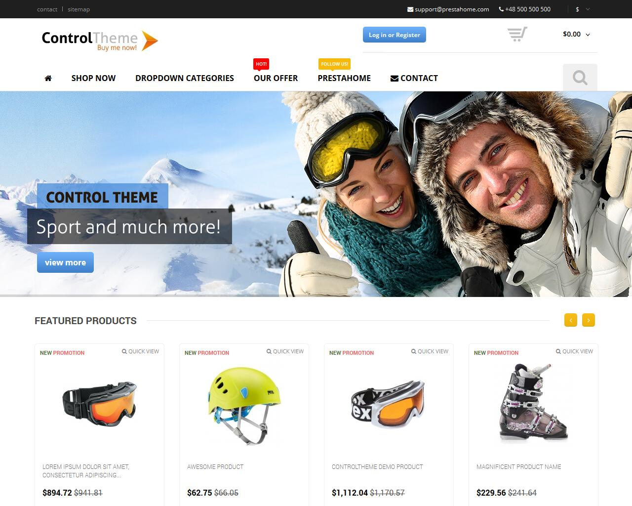 PrestaShop Theme Installation + Live preview configuration by prestahome - 68856