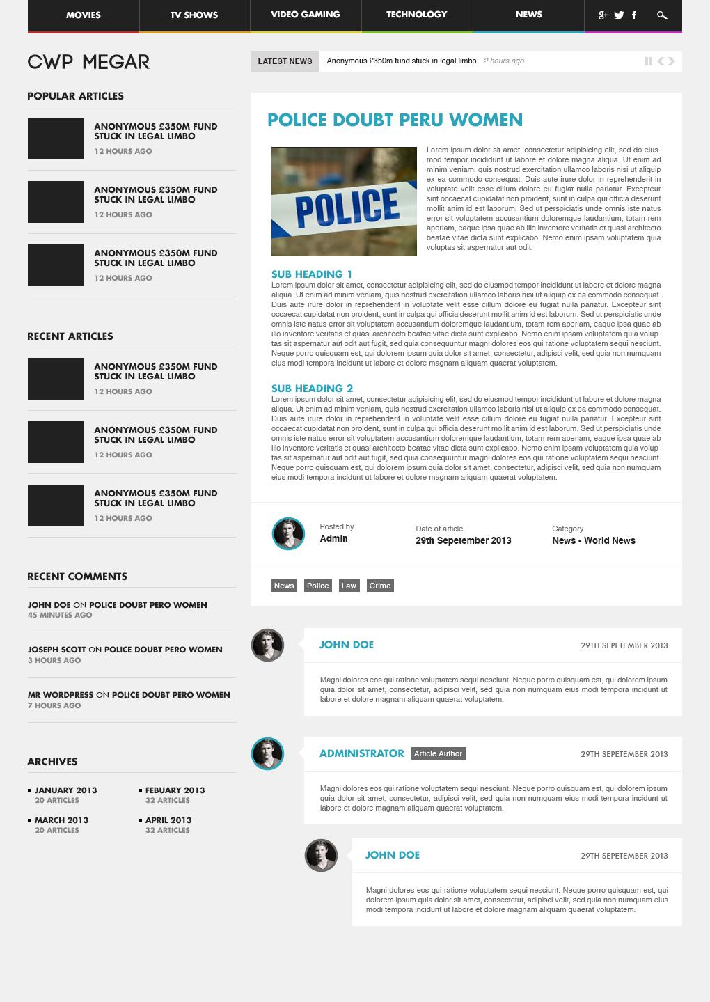 Professional Inner Page Web Design / Redesign by Sonny1993 - 58022