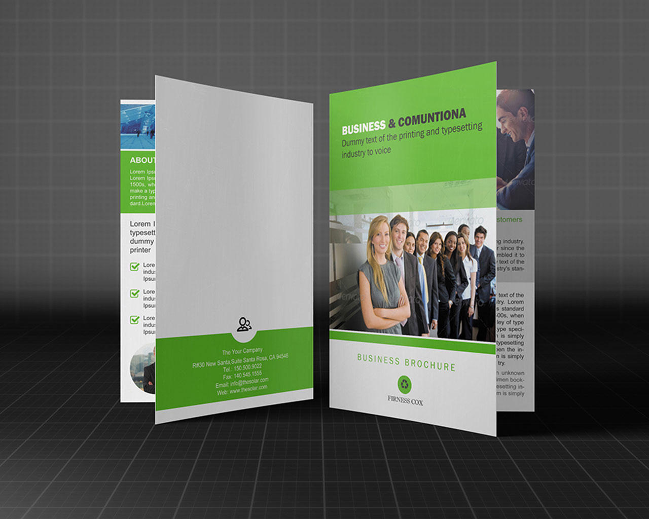Bi fold brochure customization design 4 page by for One fold brochure template
