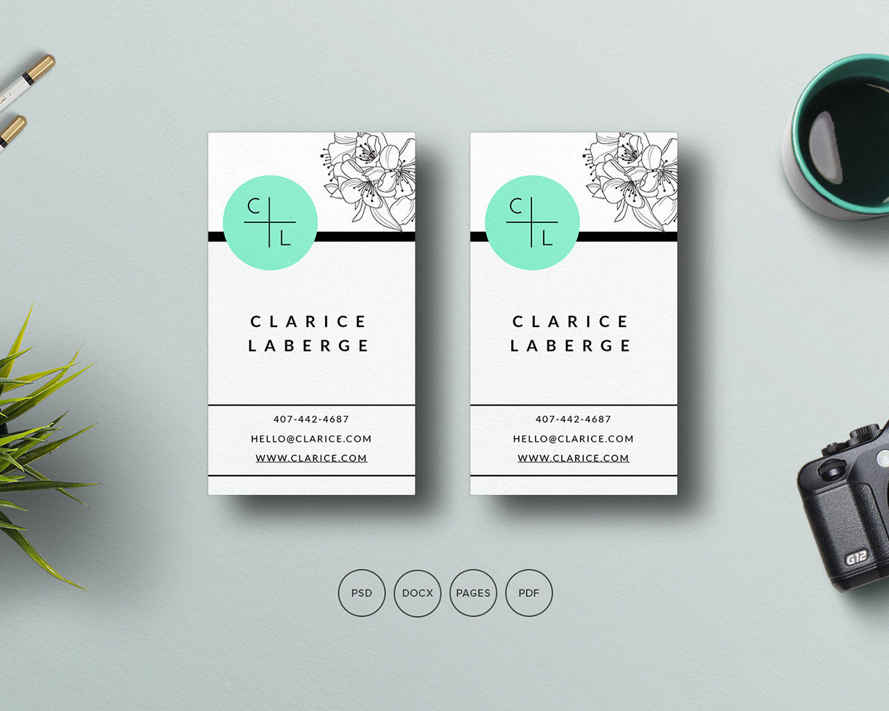 business card customization by coralixthemes on envato studio