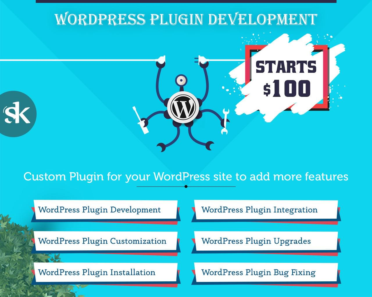 WordPress Plugin Development / Customization / Installation / Integration / Bug Fixing / Upgrades by SK-Web-Solutions - 113007