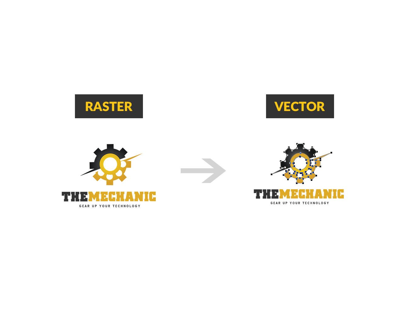Convert Raster Logo to Vector by CreativeSource_online - 67063
