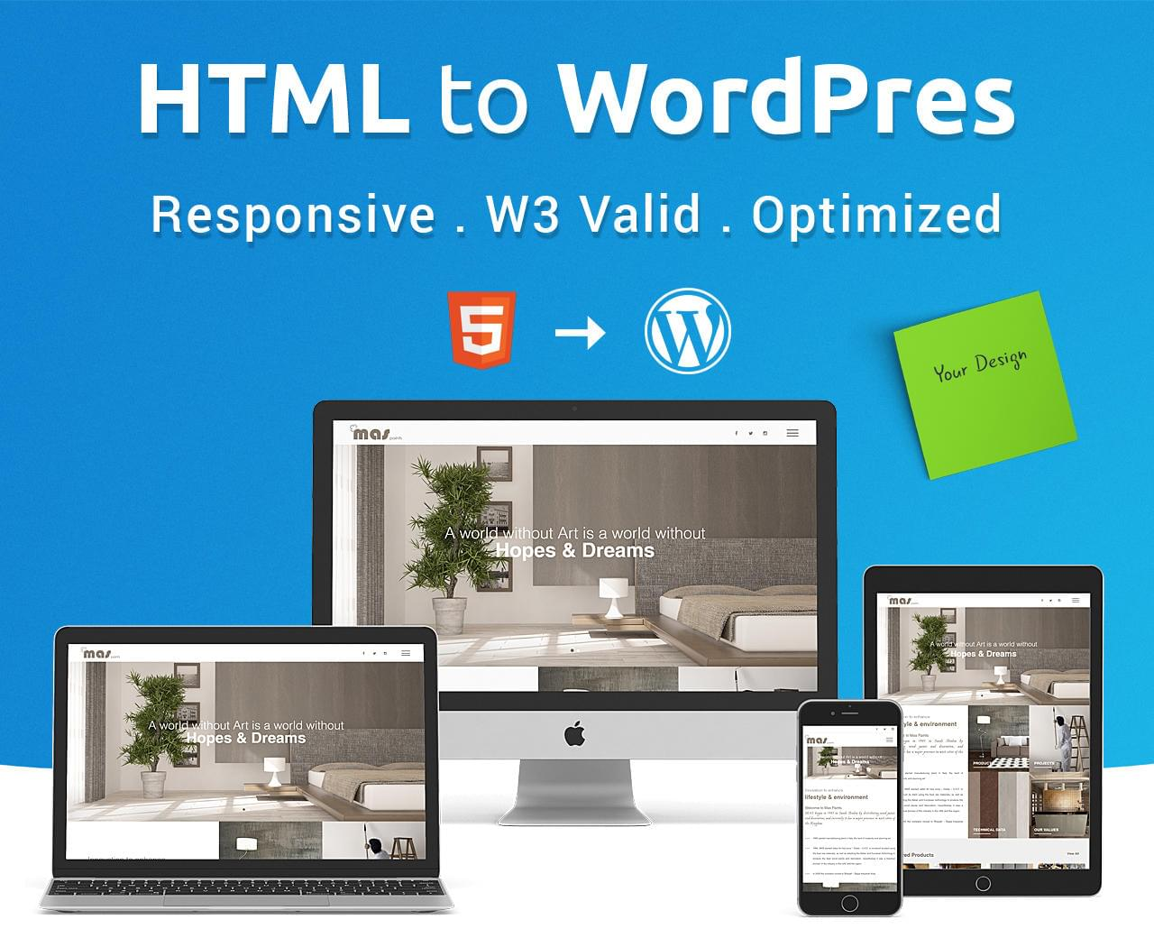 HTML to WordPress 2 Pages (1 Home + 1 Inner Page) by DeCodeUI - 114082