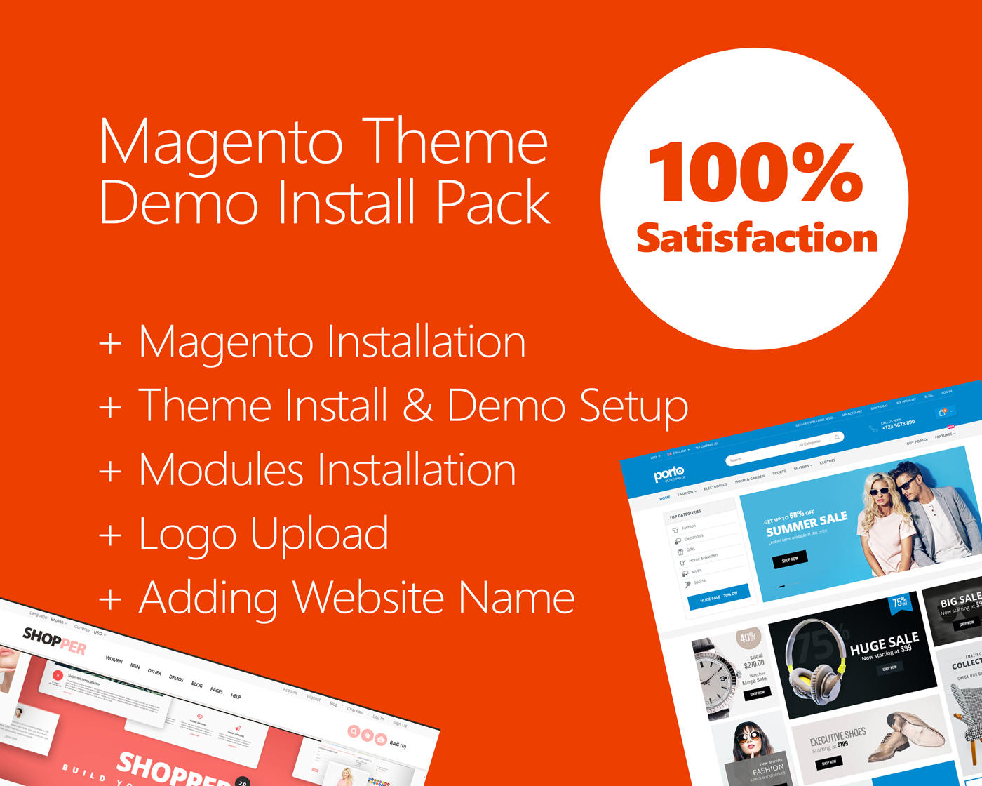 Magento Theme Install & Demo Setup (+ Modules & Logo Setup)  by hasanet - 109816
