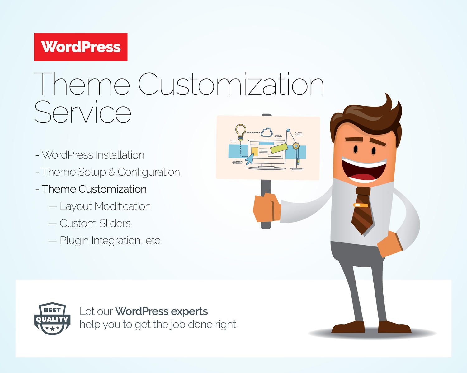 WordPress Theme Customization Service by Besyar - 103738