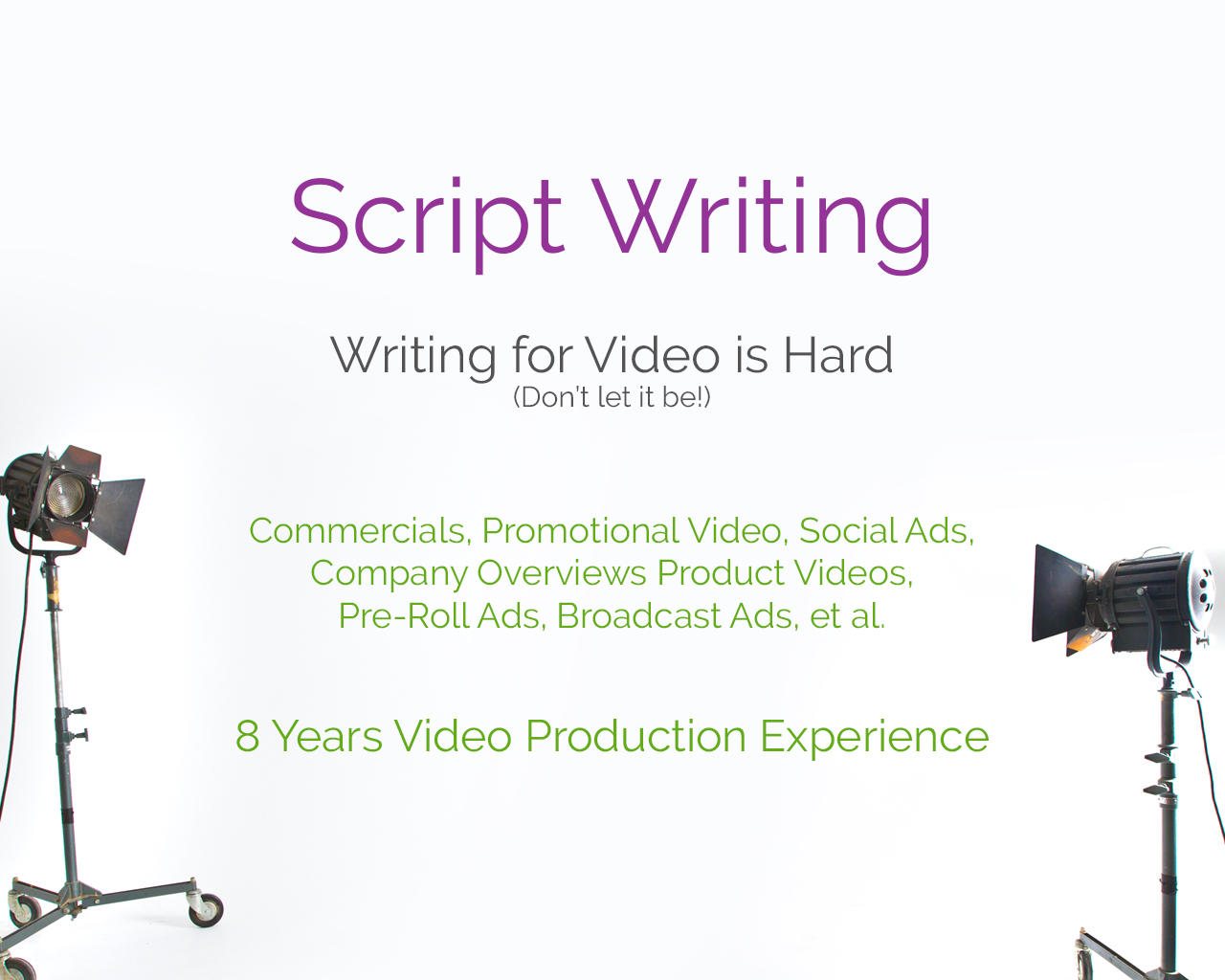 Commercial Script Writing by frogjump - 107031