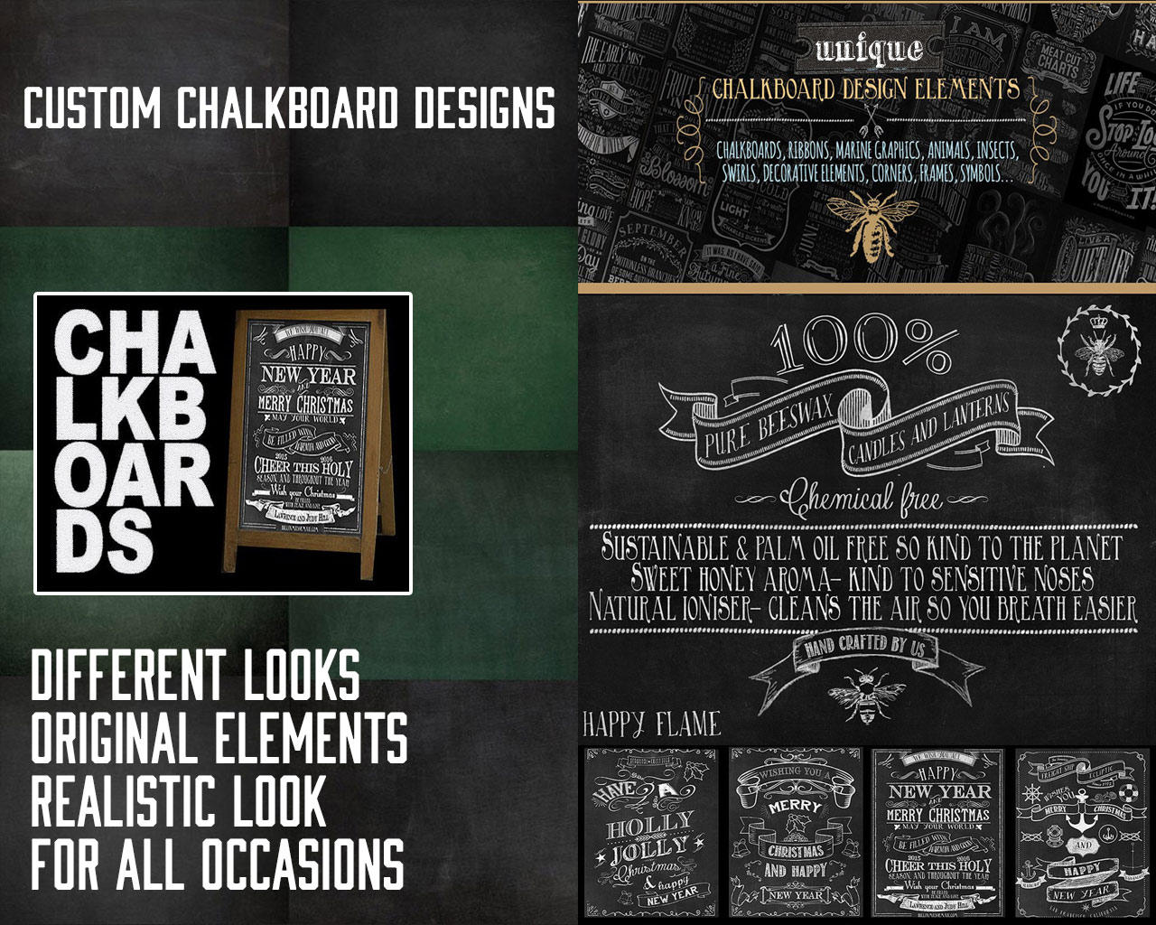 Realistic Chalkboard Design for all Occasions, in all Sizes by scarab13 - 110190