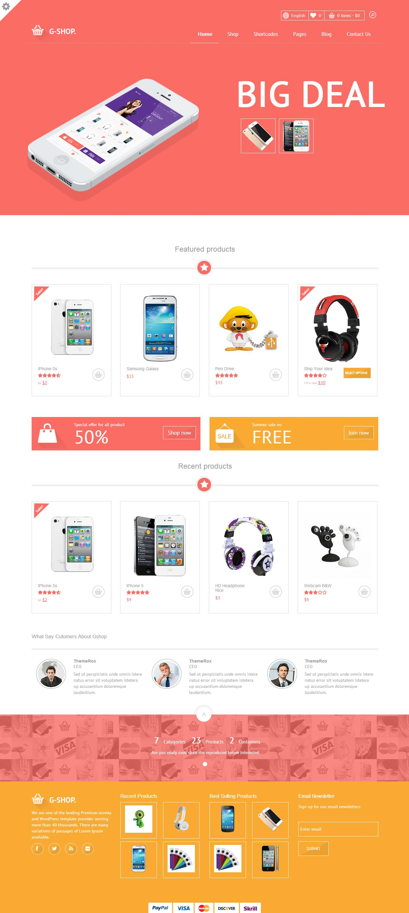 PSD to HTML Template or Site Development by Pixelaar - 36203