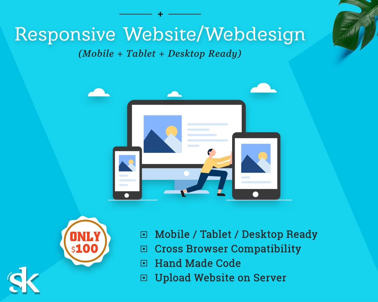 Responsive Website / Webdesign (Mobile + Tablet + Desktop Ready) by SK-Web-Solutions - 112995