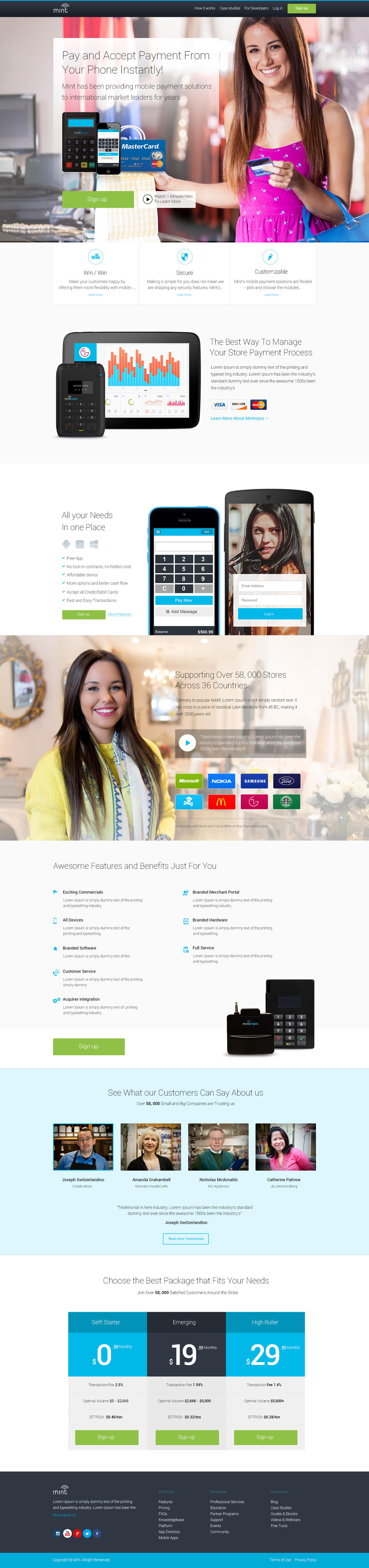 Beautiful And Conversion Focused Homepage Website Design by SixThousand_Studio - 59239