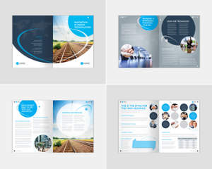 brochure design 12 pages us letter a4 by boxedcreative on envato