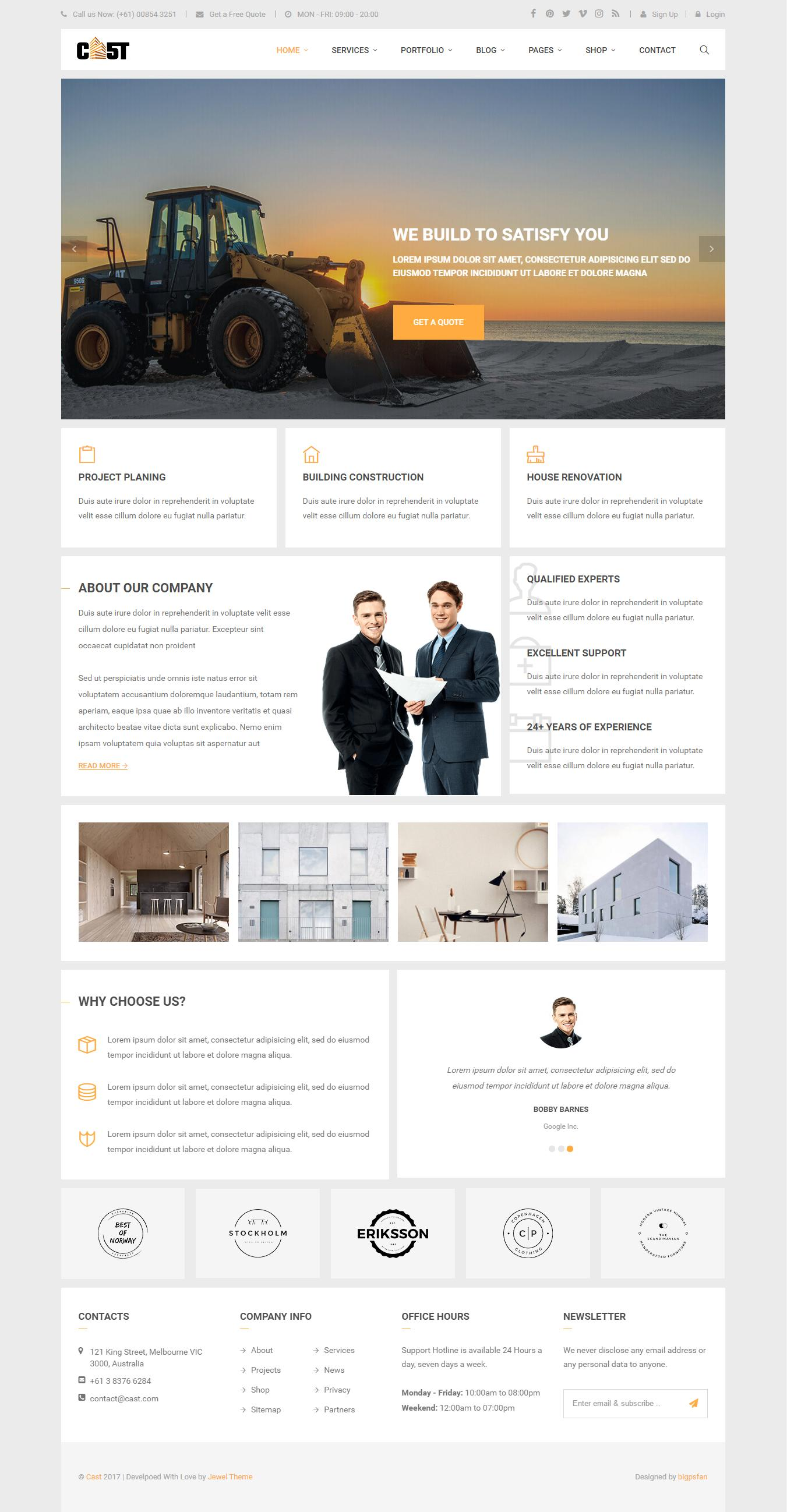 HTML to Wordpress Theme by Jewel_Theme - 106282