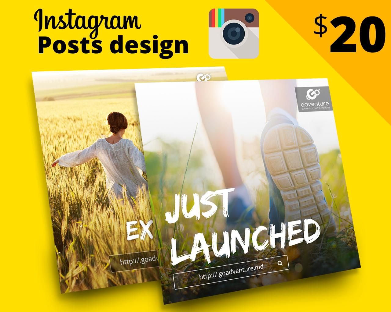Custom Profesional Design For Instagram Posts by 1theme - 98977